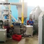 Greek customer PCB recycling machine work site