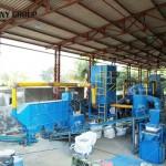 India customer Waste Radiator Recycling Equipment work site
