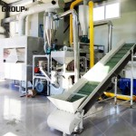 Korean customer Aluminum-plastic recycling line work site