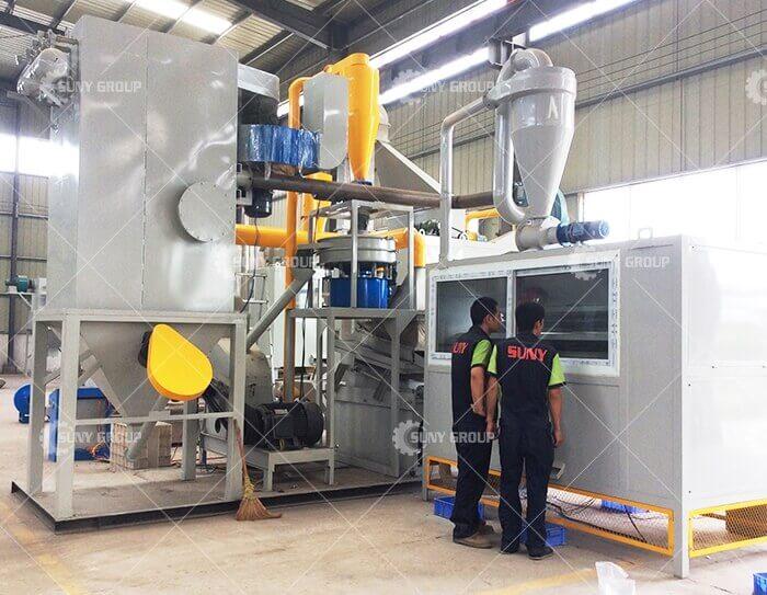 PCB recycling plant
