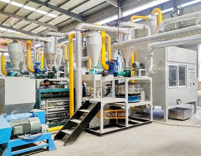 Aluminum plastic crushing production line